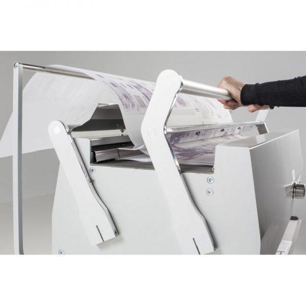 S-fold vouwmachine A0 vooraanzicht zijjkant