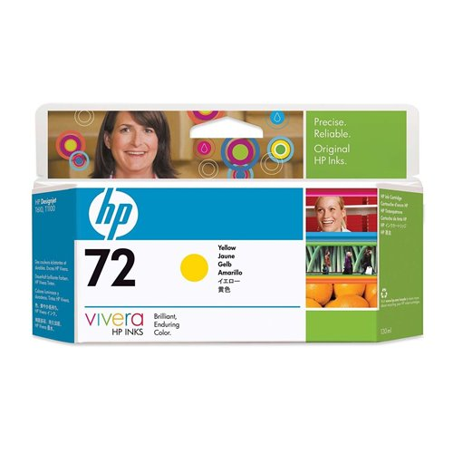 HP 72 Yellow / Geel inkt cartridge