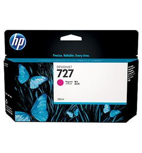 hp 727, ink t930, inkt t920, magenta, magenta, 130ml