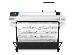 Hp Designjet T530 36 inch vooraanzicht