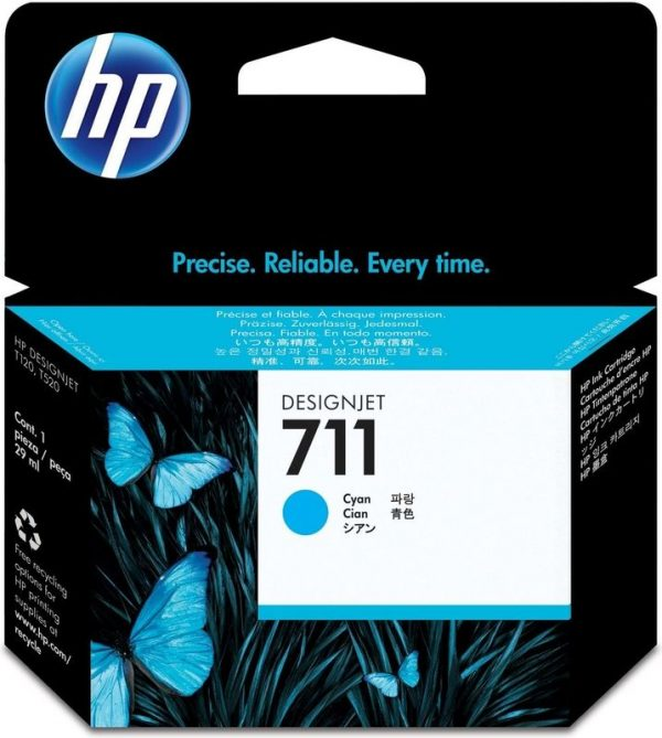 HP 711 Cyaan inkt cartridge 29 ml