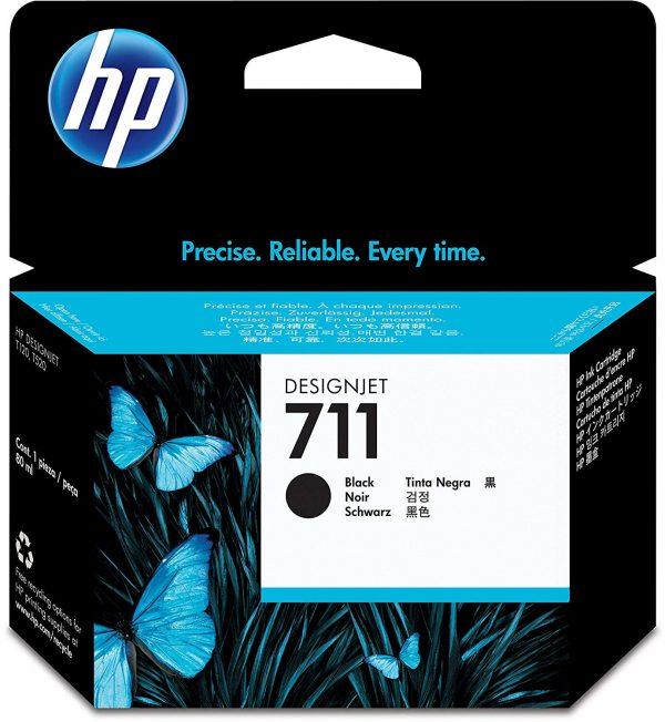HP 711 Zwarte inkt cartridge 80 ml