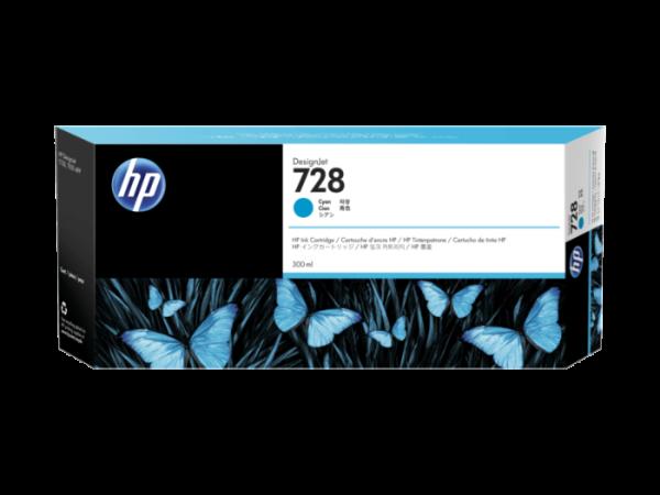 HP 728 Cyaan inkt cartridge 300 ml