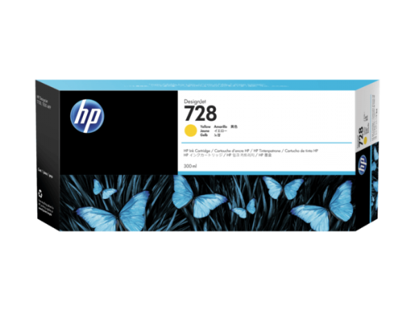 HP 728 Gele inkt cartridge 300 ml