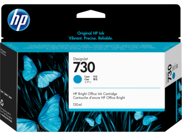 HP 730 Cyaan inkt cartridge 130 ml