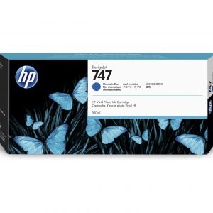 HP 747 Chromatisch blauwe inkt cartridge 300 ml