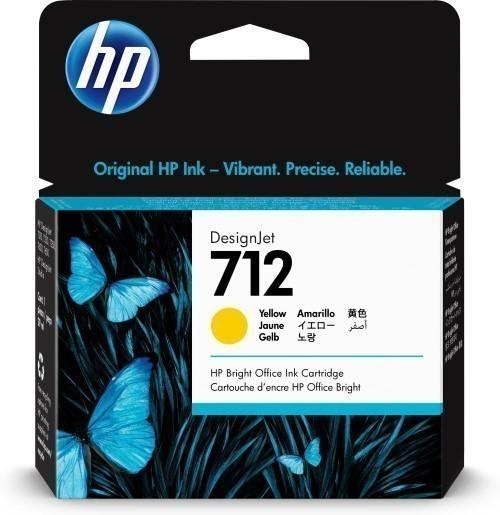 HP 712 geel inkt cartridge 29 ml