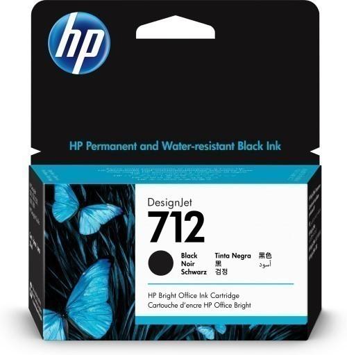 HP 712 zwart inkt cartridge 38 ml