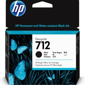 HP 712 zwart inkt cartridge 80 ml